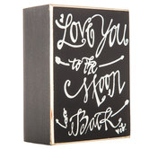 To the Moon & Back Wood Decor